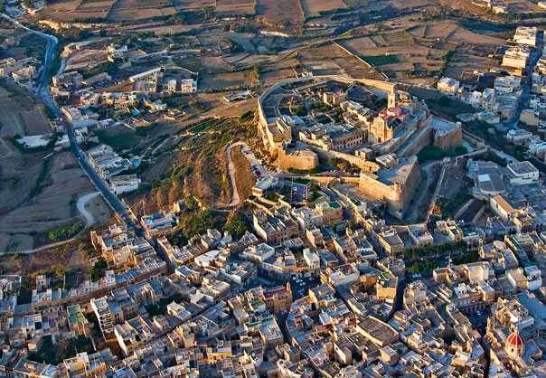 Aerial view of Gozo